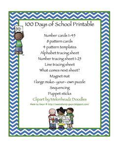 100+Days+of+School+Printable.jpg (1236×1600)