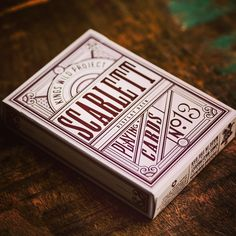 """Scarlett Tally Ho Display deck. #kingswildproject #tallyho #playingcards"""