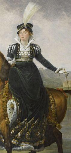 Love that riding habit...   Gros - Catherine de Wurtemberg, reine de Westphalie (detail)