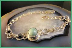 Emerald Figure Eight Link  Bracelet Handmade by Tamsjewelrydesigns