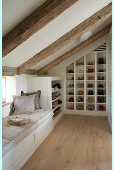Use Space Saving Attic Clothes Drawers. Use Space Saving Attic Clothes Drawers. Small Attic Room, Small Attics, Attic Rooms, Attic Bedroom Ideas Angled Ceilings, Attic House, Tiny House, Small Spaces, Attic Master Bedroom, Bedroom Loft