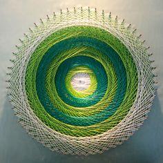 Arte Linear, String Wall Art, Barber Shop Decor, String Art Patterns, Yarn Wall Hanging, Thread Art, Art Plastique, Abstract Wall Art, Art Tutorials