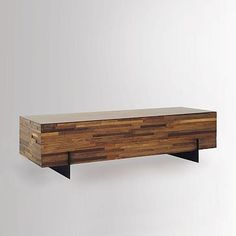 Mixed Wood Coffee Table #westelm