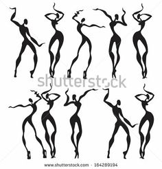 Abstract dancing figures by Katya Ulitina, via ShutterStock