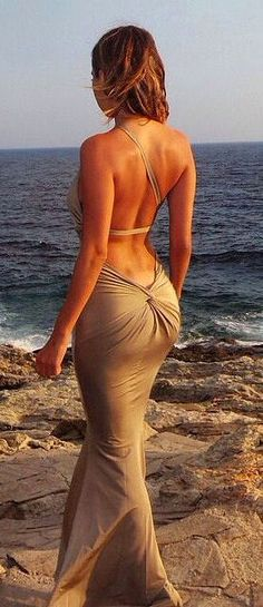 Open back dress [ VelvetEyewear.com ] #sexy #luxury #style