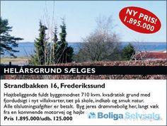 Strandbakken 16, 3600 Frederikssund - Højt beliggende grund med fjordudsigt. Byg drømmeboligen her! #grund #helårsgrund #grundsalg #selvsalg #boligsalg #boligdk