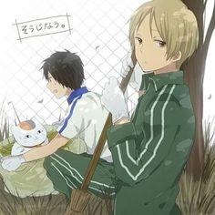 "Ahahaha. Tanuma's face is so ridicilous :""D Also Natsume's       《Tags: #natsumeyuujinchou #natsumetakashi #tanuma #pet #anime #tanumakaname #tanunatsu #instaanime #animefan #l4l #nyankosensei #shigatsuwakiminouso #bleach #deathnote #saitama #onepunchman #dragonball #feels #boys #kimono #summer #夏目友人帳"