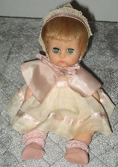 "1963 Ginnette - 8"" vinyl Vogue Doll- with hair- org. outfit, tagged  (  BEFORE restoring   )"