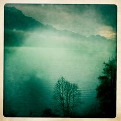 On the way to Interlaken, Switzerland. >> awesome photo, such a gorgeous color palette!