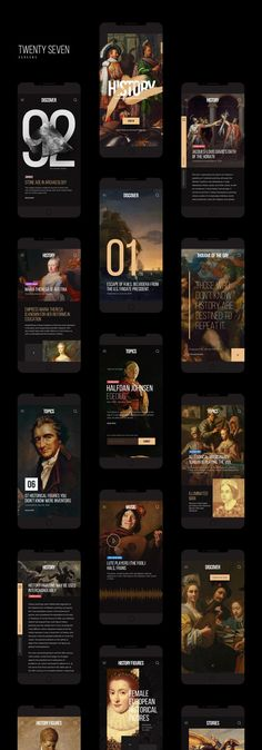 History Mobile App Kit / Free PSD on Inspirationde - What is fashion design firs. - History Mobile App Kit / Free PSD on Inspirationde – What is fashion design first? Mobile App Design, Mobile Web, Web Design, Design Files, Flat Design, Graphic Design, Web Layout, Layout Design, Website Layout