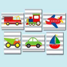 Transportation Wall Art,Transportation Names Nursery Wall Art,Transportation Playroom Cars Planes Train Fire Truck Wall Art- UNFRAMED Transportation Nursery, Transportation Birthday, Art Wall Kids, Nursery Wall Art, Nursery Decor, Playroom Wall Decor, Boys Bedroom Decor, Decoration Creche, Dinosaur Nursery