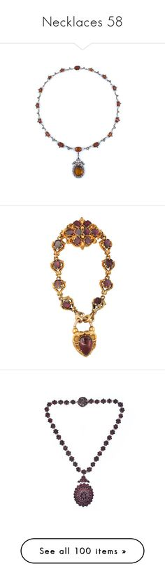 """""""Necklaces 58"""" by singlemom ❤ liked on Polyvore featuring jewelry, necklaces, formal necklaces, renaissance necklace, formal jewelry, citrine necklace, garnet jewellery, enamel necklace, bracelets and colar"""