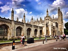 King's College in Cambridge, England *** read more about Cambridge on my blog www.jump-on-board.com