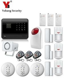 YobangSecurity Russian French Spanish Dutch APP Control Touch Screen GPRS WIFI GSM Home Security Alarm System with IP Camera #Affiliate