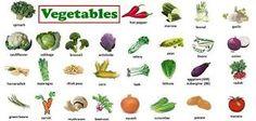 Kết quả hình ảnh cho vegetables vocabulary