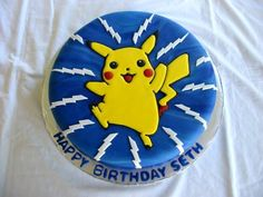 I want a cake like this for my birthday. Pokemon Birthday Cake, 8th Birthday, Birthday Ideas, Pokemon Torte, Pokemon Cakes, Pikachu Cake, Pokeball Cake, Cute Cakes, Themed Cakes