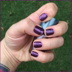 You can get as creative as you'd like with Jamberry nail wraps! This mani is a combination of 'Lost Ruins' layered over 'Fizzy Grape.'