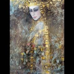 canvas painting Poster figure Wall Picture home decor Wall art abstract Picture print on canvas for living room Art Decoration Fantasy Kunst, Fantasy Art, Klimt Art, Gustav Klimt, Figurative Kunst, Abstract Pictures, Pics Art, Art And Illustration, Portrait Art