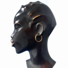 HAGENAUER Rare 1940s ART DECO Vienna Bronze AFRICAN LADY HEAD RR ROHAC ROSENTHAL