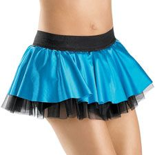 Sassy Satin Dance Skirt with Shorts; Balera