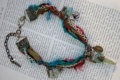 Prayers for the Girl Who Washed Away - mixed media and textile necklace by Something Sublime.