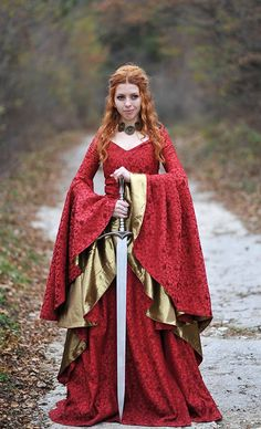 Game of Thrones costume/Cersei Game of Thrones dress/Celtic dress/Medieval dress/Medieval clothing - Game of Thrones inpsired dress/Cersei dress/Celtic - Medieval Gown, Renaissance Dresses, Medieval Costume, Renaissance Fair, Medieval Dress Pattern, Medieval Wedding, Celtic Costume, Elven Costume, Medieval Fashion