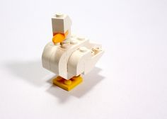 #LEGO duck.  Kids could make this quite easily.  Cute