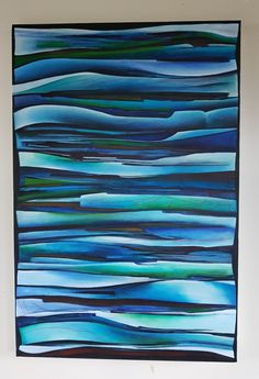 Acrylic and ink on canvas Lisa Ormsby