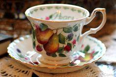 Royal Albert Pears Tea Cup ~ My Cozy Corner: Dreaming of England and Fall Tea