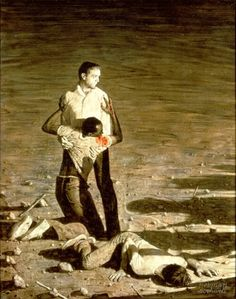 "Rockwell painted ""Murder in Mississippi"" in 1965 to illustrate the murder of civil rights activists Michael Schwerner, Andrew Goodman and James Chaney."