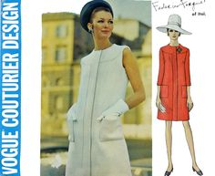 60s Vogue Pattern Dress Pattern Vogue Pattern 1990 VOGUE COUTURIER Design MOD Sheath Dress Italian Vogue Federico Forquet Pattern Size 14 by ScarlettsVault on Etsy https://www.etsy.com/listing/171914796/60s-vogue-pattern-dress-pattern-vogue