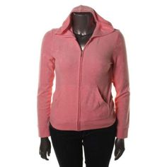 Juicy Couture New Pink Terry Cloth Long Sleeves Hoodie L BHFO