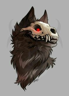 Too fashionable that I'm given the title of the artist - Anime Wolf Creature Drawings, Animal Drawings, Cool Drawings, Cute Wolf Drawings, Dark Fantasy Art, Werewolf Art, Furry Drawing, Anime Wolf Drawing, Deer Skull Drawing