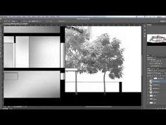 Quick Architectural Section - Photoshop Photoshop Plugins, Adobe Photoshop, Lightroom, Photoshop Youtube, Photoshop Tutorial, Autocad, Ps Tutorials, Architectural Section, Architecture Graphics
