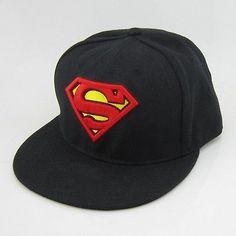 Black Superman DC Comics Snapback Hat