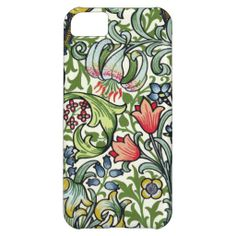 William Morris Golden Lily Floral Chintz Pattern Cover For iPhone 5C