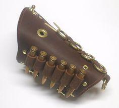 Steampunk Leather Cuff Bandolier. $55.00, via Etsy.