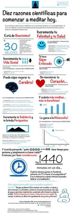 Los Beneficios de la Meditación: 10 Razones Científicas Para Empezar a Meditar Hoy Mismo (Infografía) - Emma Seppälä, Ph.D. http://www.farmaciafrancesa.com