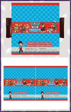 Free Paw Patrol Candy Wrapper