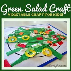 Green Salad Craft. Fun way to talk about eating healthy with kids!