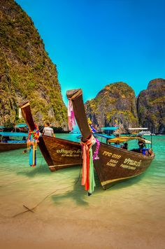 This is the scenery at Phi-Phi Island, Thailand