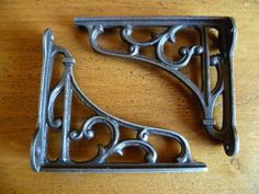 2 x Solid cast iron filigree vintage by UpcyceIndustrials on Etsy, £12.00