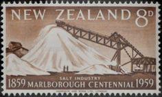 New Zealand (93) 1959 Centenary of Marlborough Province - Salt Industry, Grassmere