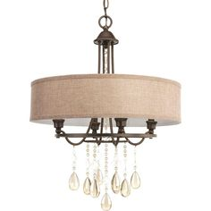 Progress Lighting Flourish Collection 4-Light Cognac Pendant