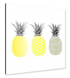 Three Ananas by Michaela Merzenich. Artprints available @artboxONE