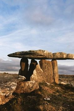 """""""I'm still standing!"""" Poulnabrone, a portal dolmen tomb in the Burren, County Clare, dates back to Neolithic times – meaning it's at LEAST 5,000 years old."""