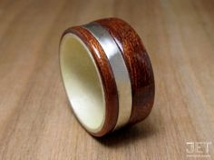 Mahogany Bentwood Ring with Maple Liner & by JETbentwoodjewelry