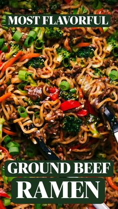 Pork And Beef Recipe, Best Beef Recipes, Ground Beef Recipes Easy, Asian Recipes, Cooking Recipes, Ramen Dishes, Pasta Dishes, Frugal Meals, Quick Meals