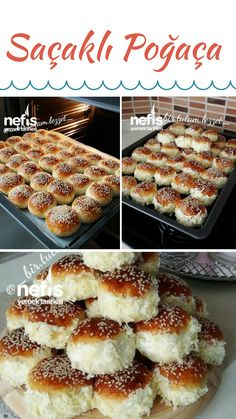 Saçaklı Poğaça – Nefis Yemek Tarifleri – How to make Frizzy Donut Recipe? Here is the illustrated description of Fringed Pancake Recipe in the book of people and the photos of the experimenters. Yummy Recipes, Donut Recipes, Pizza Recipes, Cooking Recipes, Yummy Food, Pastry Recipes, Bread Toast, Wie Macht Man, Easy Eat