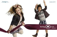 Campaign Autumn/Winter 2011 - Hering Kids emphasizing funny and casual values, following the line mini-adult brand.